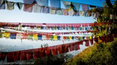 On the rooftop of Nepal, Kathmandhu in the shadow of the monastery