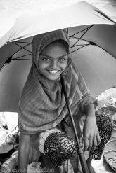 Bangladesh, flower seller