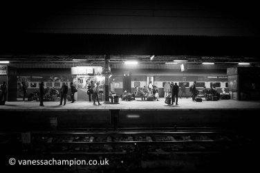 Delhi train station, India