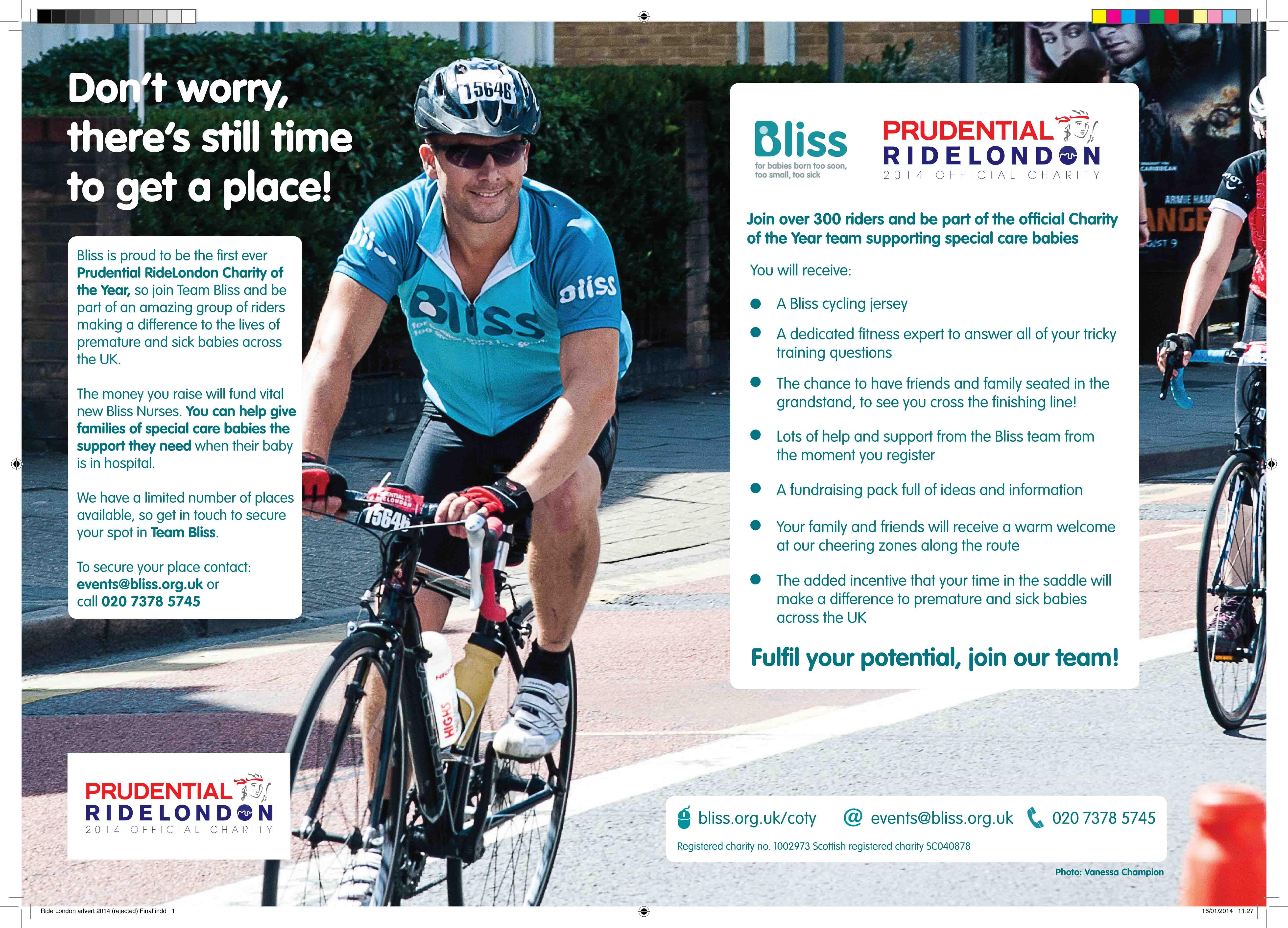 Ride London advert 2014 Vanessa Champion